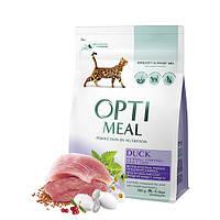 Сухой корм для котов с с эффектом выведения шерсти с уткой, 300 г