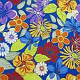 Декоративная ткань для штор, тропические цветы синий, фото 2