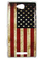 Чехол для Sony Xperia C s39h c2305 Флаг США