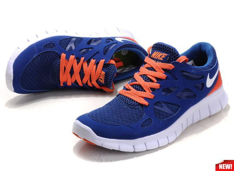 Кроссовки Nike Free Run 2.0 Blue Orange Синие женские