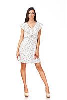 Платье с рюшами по груди оптом. Модель П113_котики, фото 1