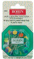 Булавки для пэчворка Bohin Цветочки 50шт