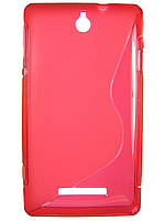 S-line чехол для Sony Xperia E c1505 c1605 Красный