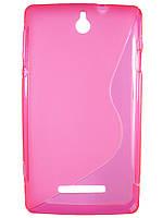 S-line чехол для Sony Xperia E c1505 c1605 Розовый