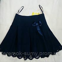 Юбка школьная чёрная размер 116-122-138-134