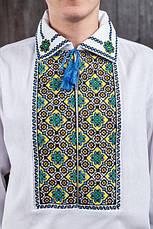 Вышиванка на домотканной ткани мужская, фото 2