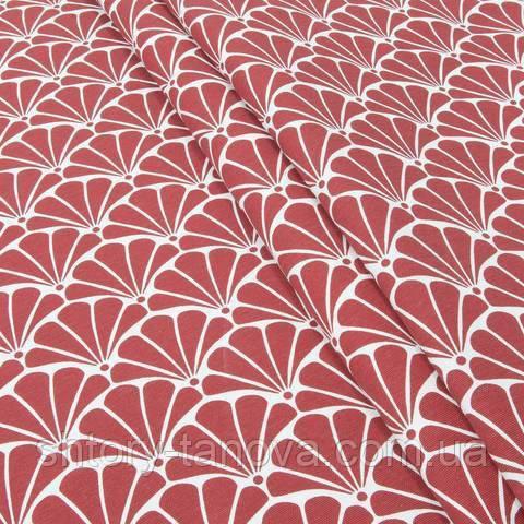 Декоративна тканина для штор, з принтом червоно-рожевий