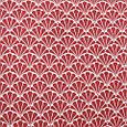 Декоративна тканина для штор, з принтом червоно-рожевий, фото 2