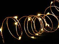 Гирлянда вннутренняя DELUX LIGHT STRING 120LED 10m 3000K IP20 тепл. белый