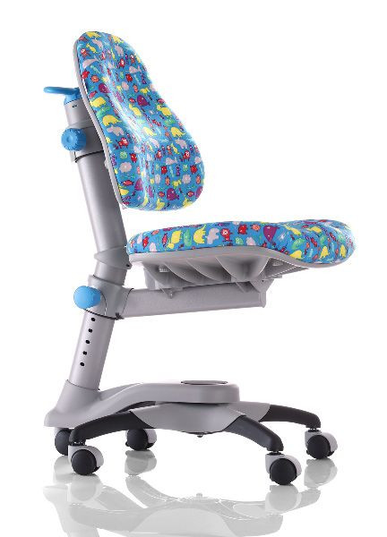 АКЦИЯ! Скидка на детское кресло «Оксфорд» KY-618BA, обивка голубая со зверятами