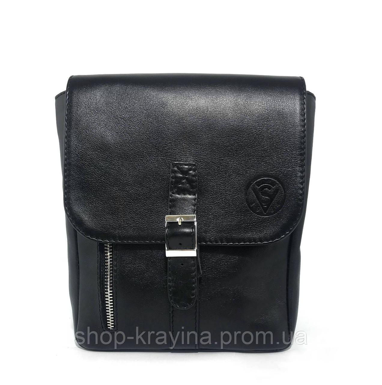 Мужская стильная сумка VS001 leather fleet 23х18х5 см