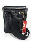 Мужская стильная сумка VS001 leather fleet 23х18х5 см, фото 2
