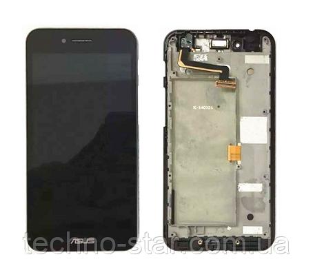 Оригінальний дисплей (модуль) + тачскрін (сенсор) з рамкою для Asus PadFone S PF500KL (чорний колір)