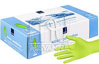Перчатки нитриловые без талька Abena Green Apple 100 шт., салатовые L