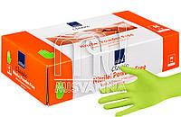Перчатки нитриловые без талька Abena Green Apple 100 шт., салатовые M