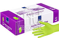 Перчатки нитриловые без талька Abena Green Apple 100 шт., салатовые XS