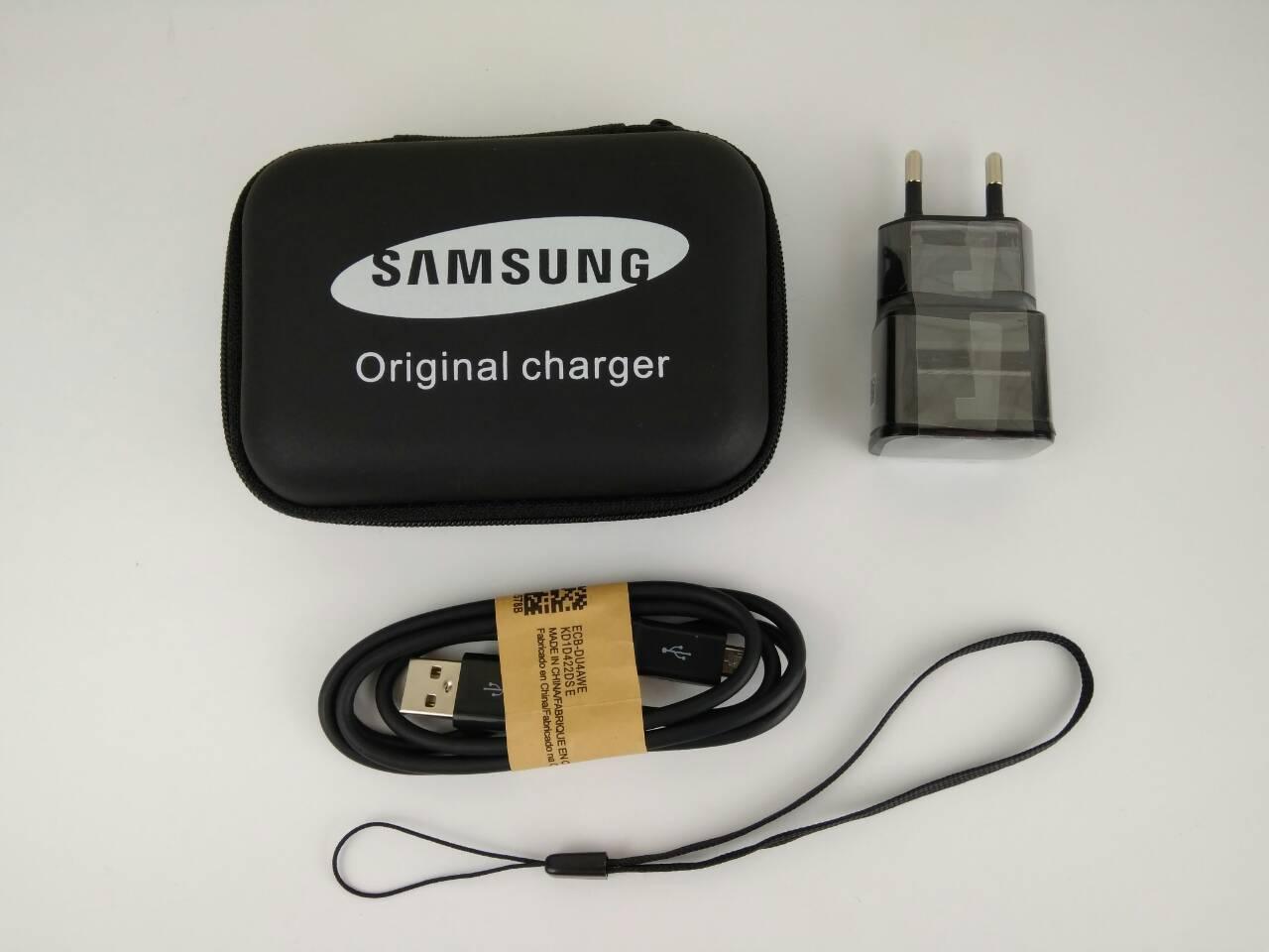 Сетевое зарядное устройство Samsung case 1USB/2.4A/Micro black (реплика)