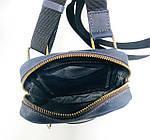 Мужская стильная сумка VS003  Crazy horse blue 10х15х5 см, фото 2