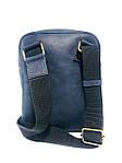 Мужская стильная сумка VS003  Crazy horse blue 10х15х5 см, фото 3
