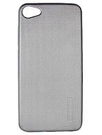 Силиконовый чехол Motomo для Huawei Y5 II (Y5 2) Черный Серебристый