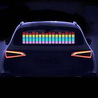 Эквалайзер на заднее стекло автомобиля (45*11 см) WAIIHALIGHT, Электронный графический эквалайзер на стекло
