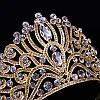 Диадема высокая корона, золотая БАДЕН, украшения для волос, фото 2