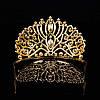 Диадема высокая корона, золотая БАДЕН, украшения для волос, фото 3