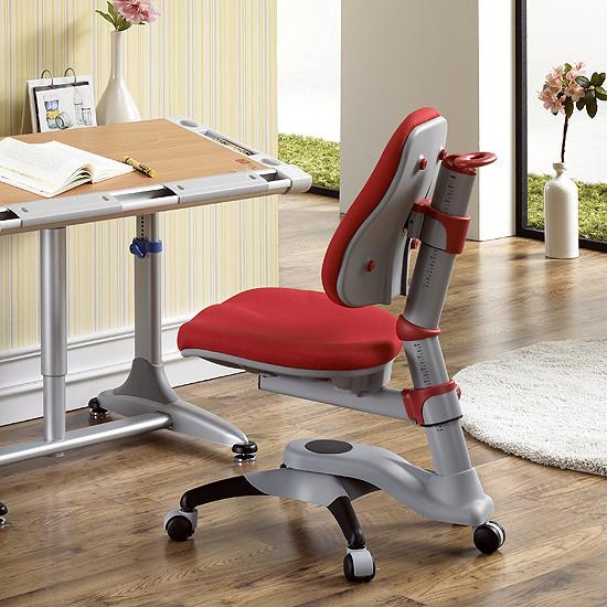 Детское кресло «Оксфорд» KY-618RF, оббивка красная