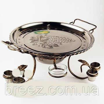 Садж для шашлыка Плато с соусниками и рюмками большой, фото 2