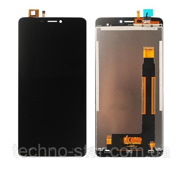 Оригинальный дисплей (модуль) + тачскрин (сенсор) для Cubot Max (черный цвет)