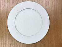 Светодиодный cветильник накладной ультратонкий SL7L 7W 5000K круглый белый Код.59253