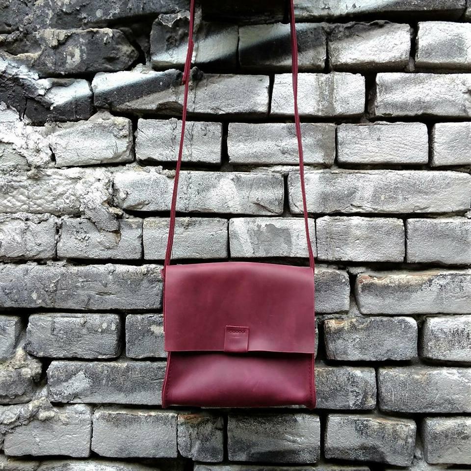 a67fc6efc677 Кожаная сумка CityBox, цвет бордо, кожа Крейзи Хорс, ручная работа, натуральная  кожа