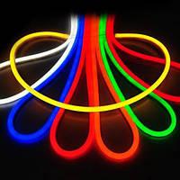 Светодиодный неон RGB разноцветный 220V двухсторонний SMD 5050/60 IP68 (1м) Код.59324