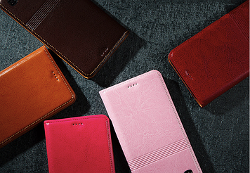 """Nokia Lumia 730 735 оригинальный кожаный чехол книжка из НАТУРАЛЬНОЙ ТЕЛЯЧЬЕЙ КОЖИ противоударный """"ETINELLE"""""""