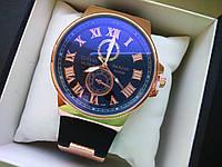 Часы Ulysse Nardin Black на батарейке 356