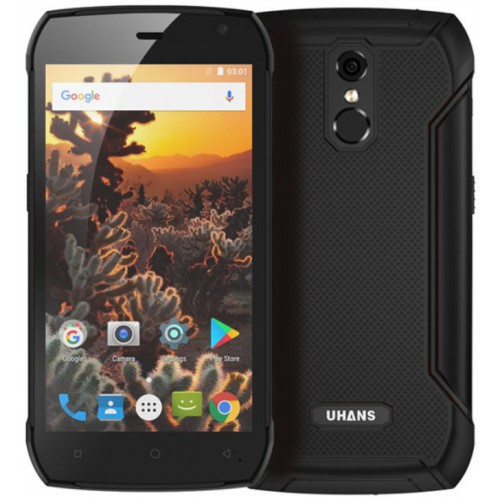 "Смартфон Uhans K5000 3/32Gb Black, 13/5Мп, IP68, 5.0"" IPS, 5000mAh, 2sim, MT6753, 8 ядер, 4G (LTE)"