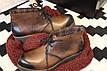 Коричневые ботинки осень-весна ручная работа, фото 4