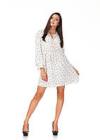 Платье летнее с длинным рукавом. Модель П121_котики, фото 1