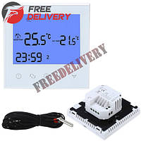 Терморегулятор термостат Wi-Fi для эл теплого пола 220В 16А HY03WE-2WIFI