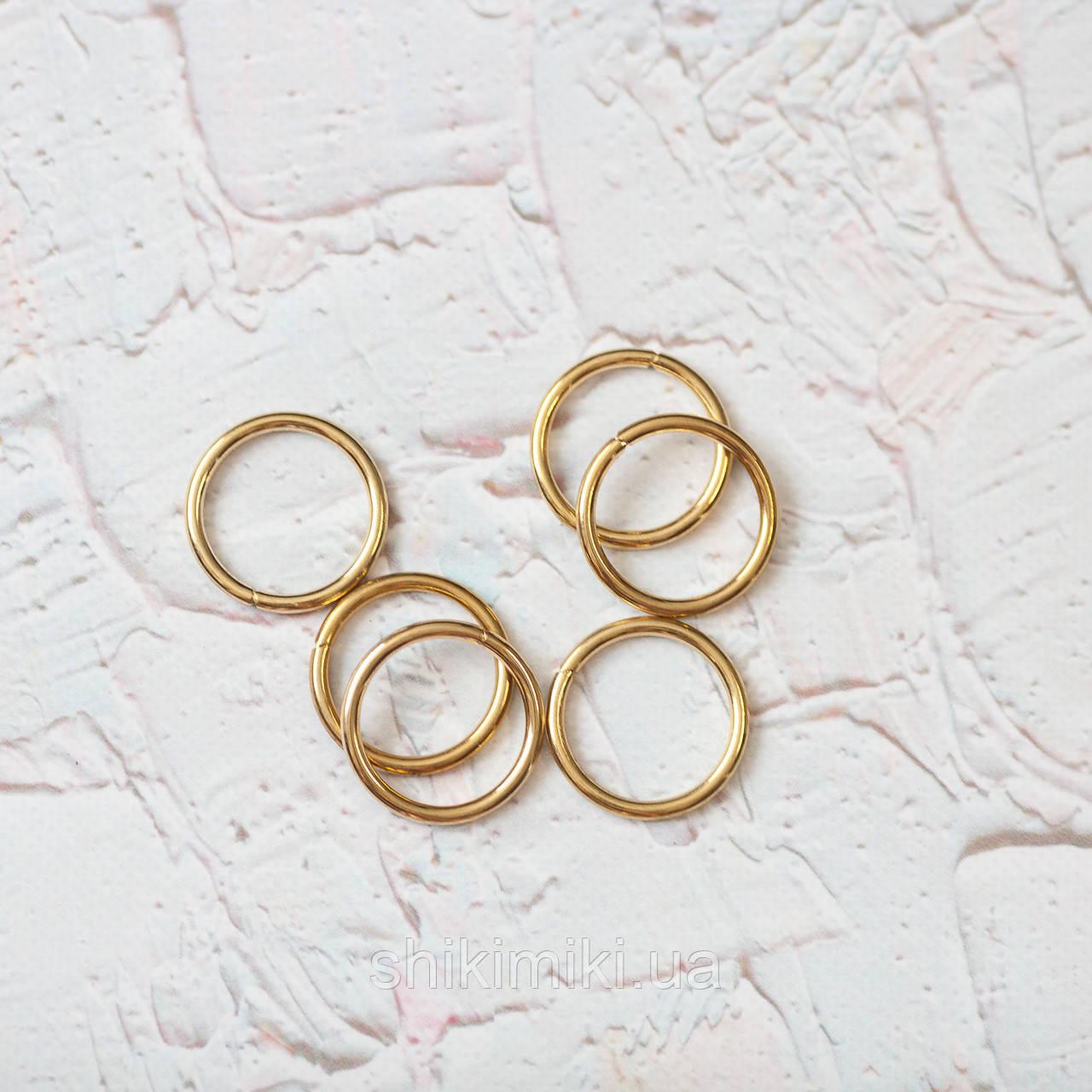 Кольца соединительные KL25-3 (25 мм), цвет золото
