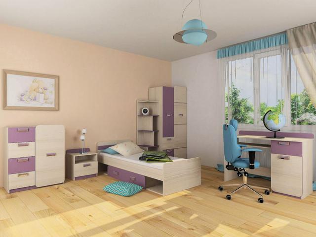 Детская комната Jasmine цвет Коимбра / виолет (комплект 1)