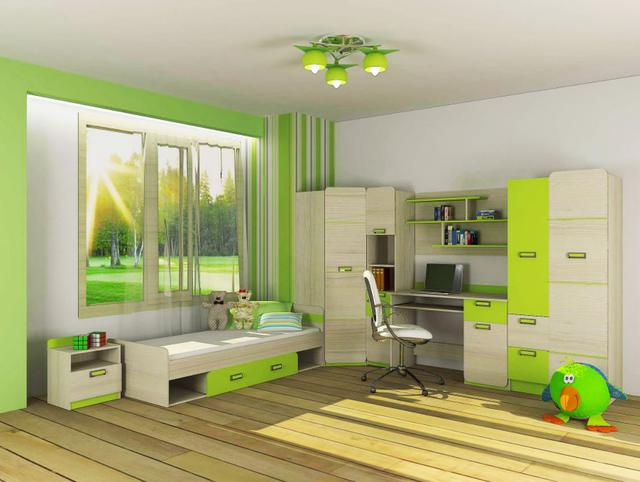 Детская комната Jasmine цвет Коимбра / лайм (комплект 1)