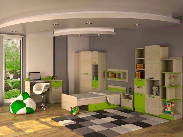 Детская комната Jasmine цвет Коимбра, лайм (комплект 2)