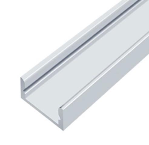 Анодированный алюминиевый профиль для светодиодной ленты накладной 2м LEDLIGHT №18