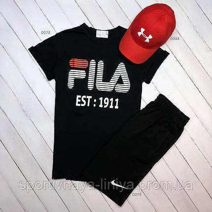 Летняя футболка и шорты Fila (Реплика), фото 2