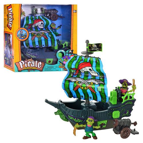 Корабель піратів 10755 KEENWAY, звук, світлові ефекти, фігурки 2шт, на батарейках, в коробці, 40-37-12,5см