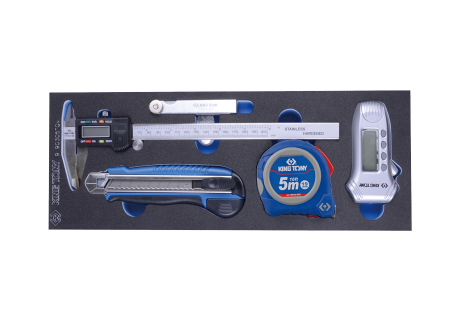 Набор  измерительных инструментов, ложемент, 5 предметов  (EVA ложемент) KINGTONY