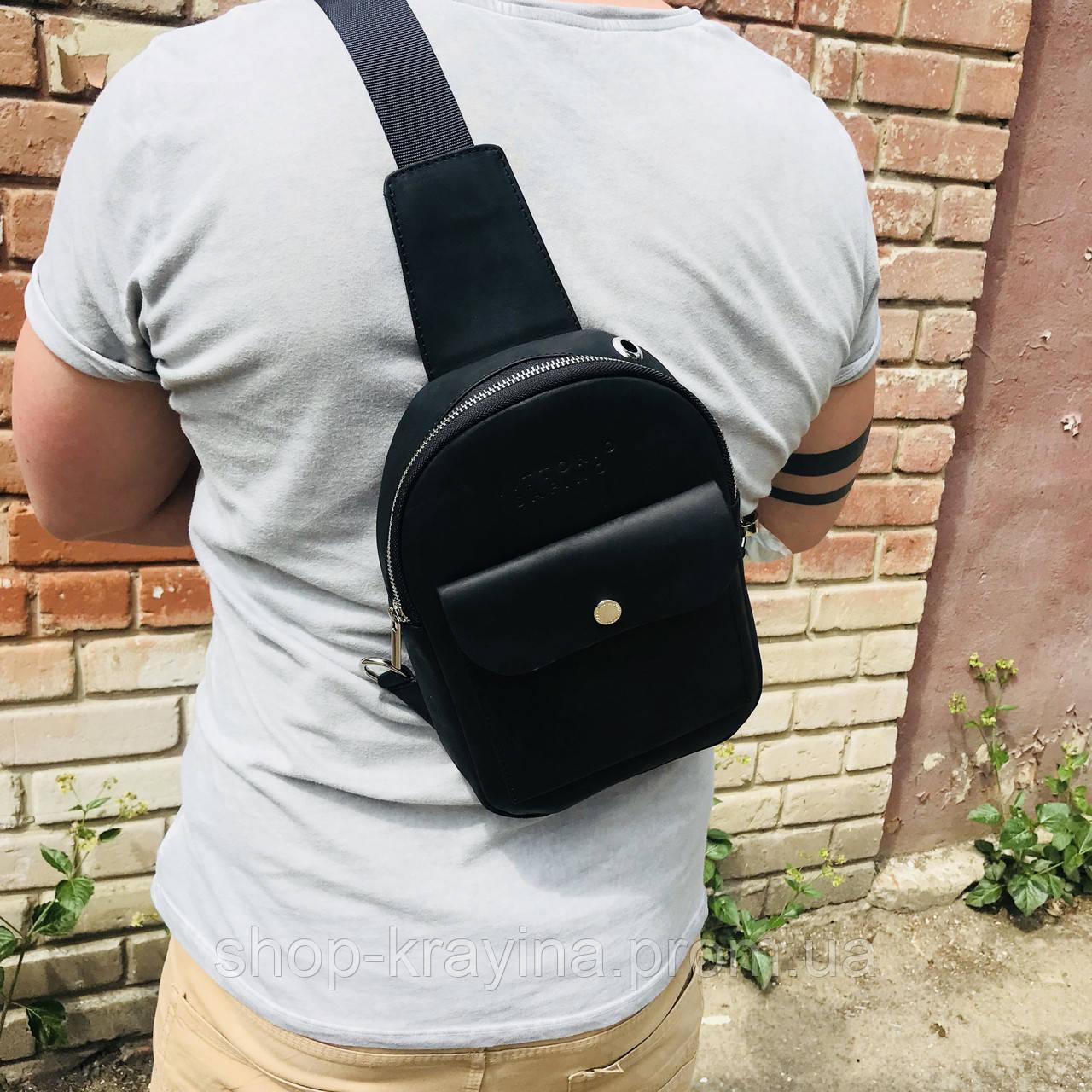 Мужская стильная сумка VS006 leather fleet