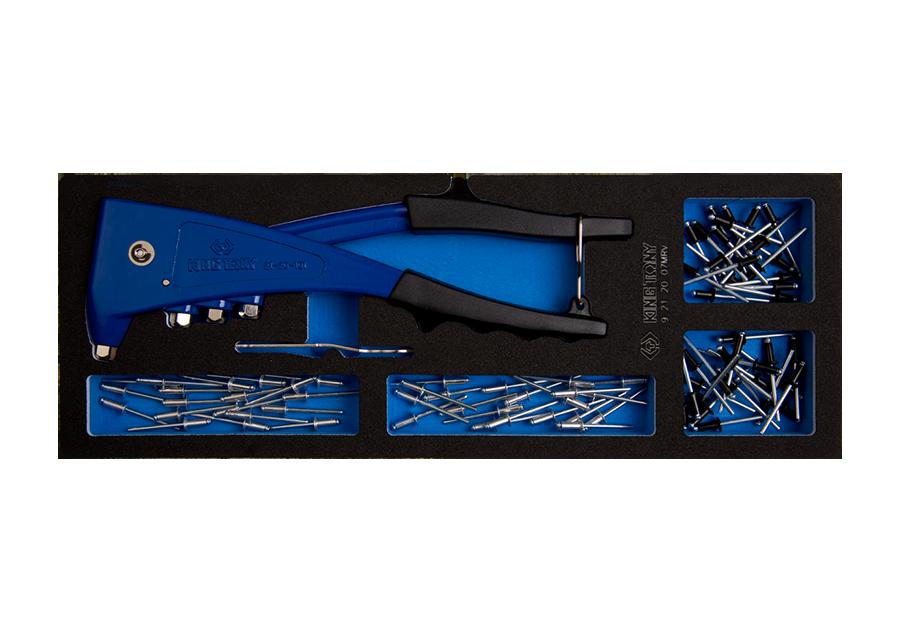 Набор пистолет заклепочный 20едениц  (EVA ложемент) KINGTONY