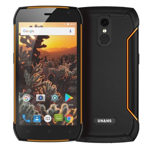 "Смартфон Uhans K5000 3/32Gb Orange, 13/5Мп, IP68, 5.0"" IPS, 5000mAh, 2sim, MT6753, 8 ядер, 4G (LTE)"